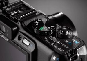 Detail-Foto der Canon Digitalkamera Powershot G9. Foto: Canon
