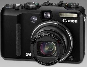 Die Canon Powershot G9 von vorne. Foto: Canon