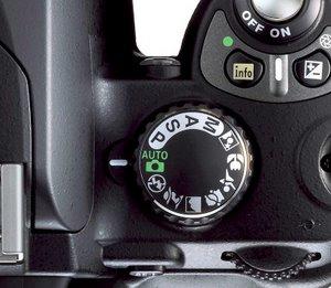 Das Einstellrad der Nikon D40