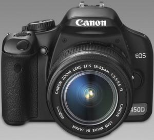 Spiegelreflex: Canon Digitalkamera EOS 450 D