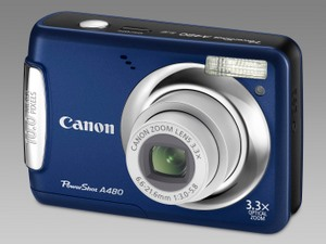 Canon PowerShot A480 BLUE (Foto: Canon)