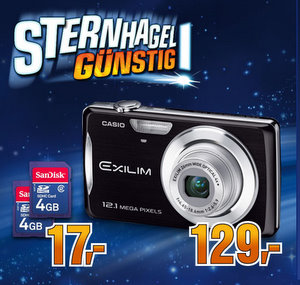Casio Exilim EX Z 280 Digitalkamera bei Saturn (Abbildung: Saturn)