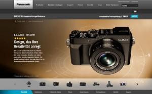 Hochwertige Kompaktkamera Lumix DMC-LX100 von Panasonic